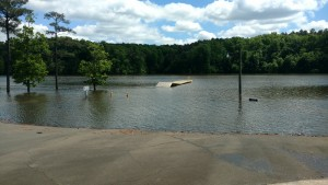Water level at Beaverdam Recreation Area on April 25 2017 after more than 8 inches of rain over a 3-day period.