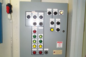 Programmable Logic Controller (PLC)- Controls all systems, and sets alarms for various conditions.